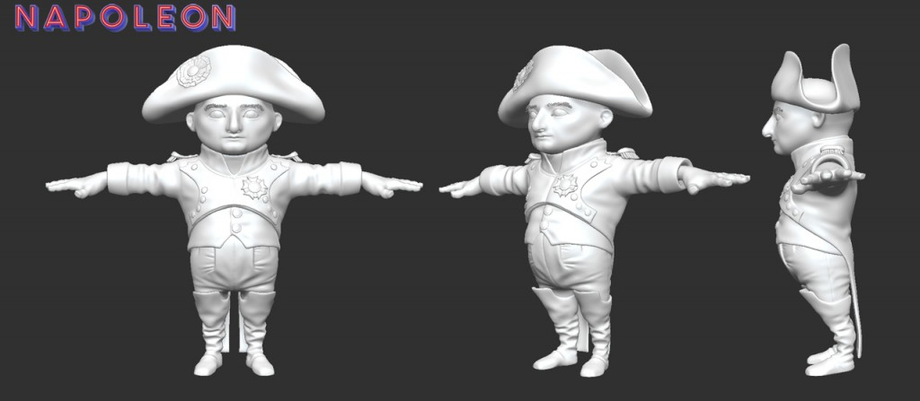 See my Napoleon Zbrush Sculpt!