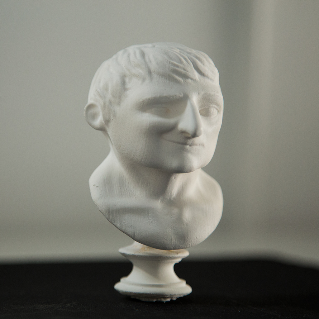 Napoleon bust 3D Printed on a Makerbot Replicon 2. Sculpt done Zbrush.