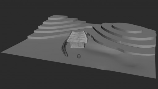 Terrain in Autodesk Maya sliced for foam construction.