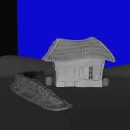 Blocking out the set in Autodesk Maya for the Latvian Komedie Minute